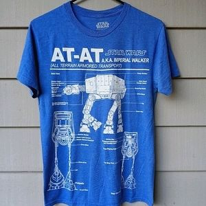 AT AT SCHEMATIC T SHIRT SMALL